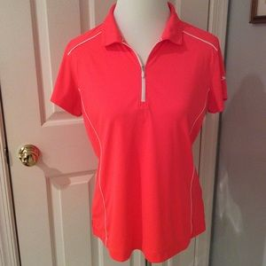 Slazenger salmon color quarter zip golf shirt